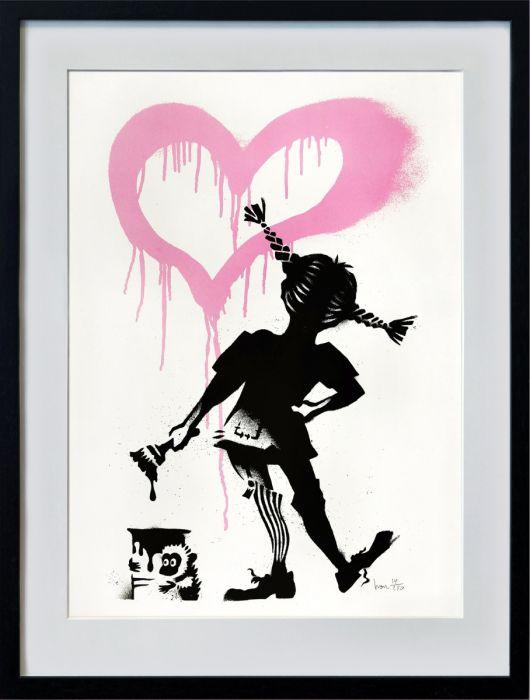Irons mycket omtyckta Vildhjärta, ett busigt motiv med mycket attityd.