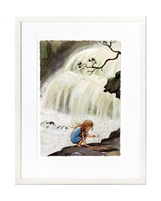Prinsessan vid vattenfallet, ett av många älskade motiv av Elsa Beskow.