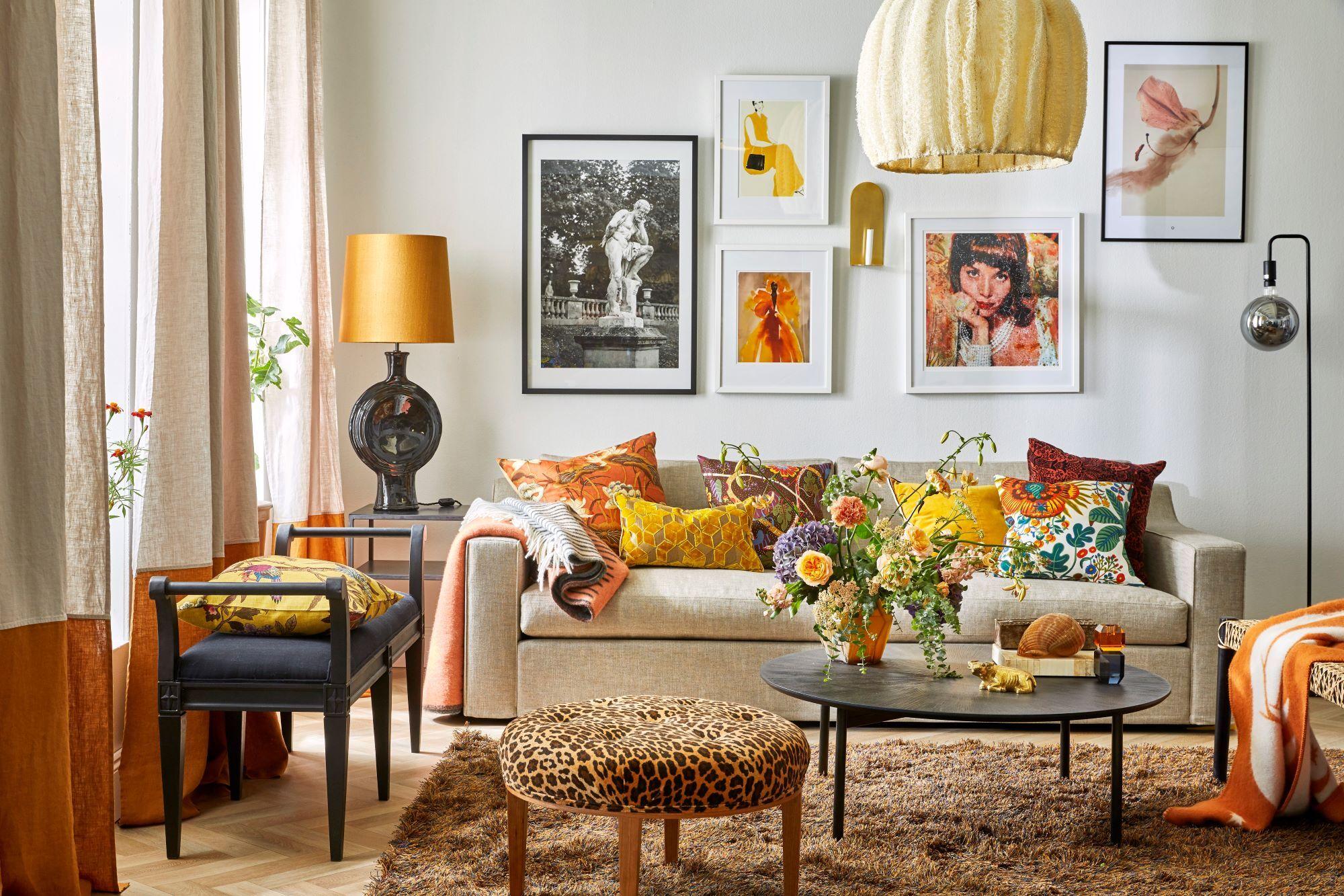 Inred ditt vardagsrum med konst!