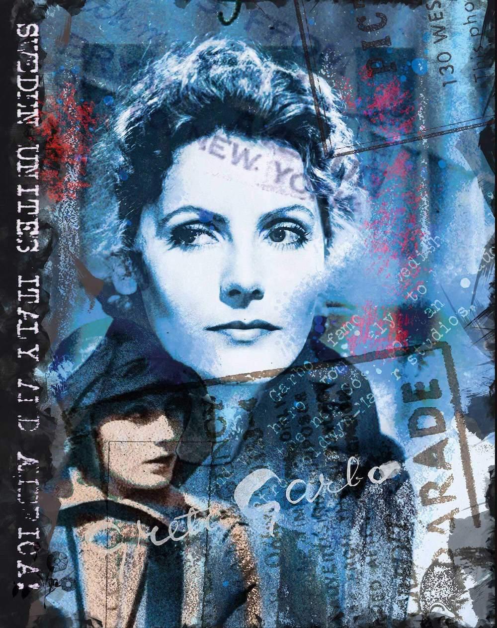 """Grafiskt blad. """"Greta Italy blue""""."""