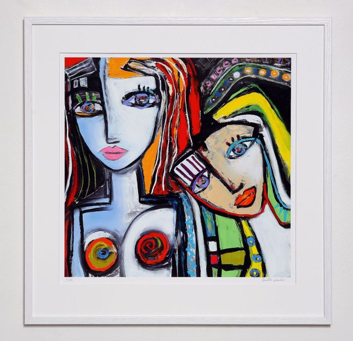 Camilla Lundéns konstverk Always Together, en kärleksfull present till någon du tycker om.