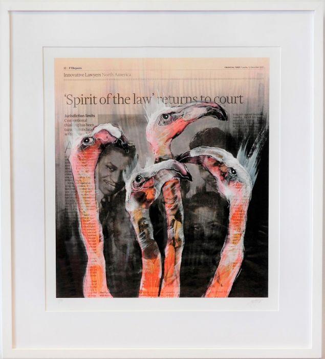 The Flamingos, säljs på NOA Gallery.