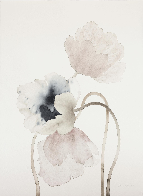 Avkvarell original av Malin Signahl, Springtime Grace